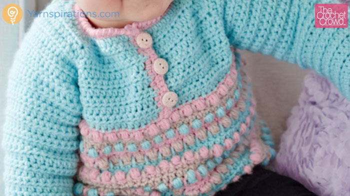 Crochet Baby Pull Over Sweater + Tutorial - The Crochet Crowd