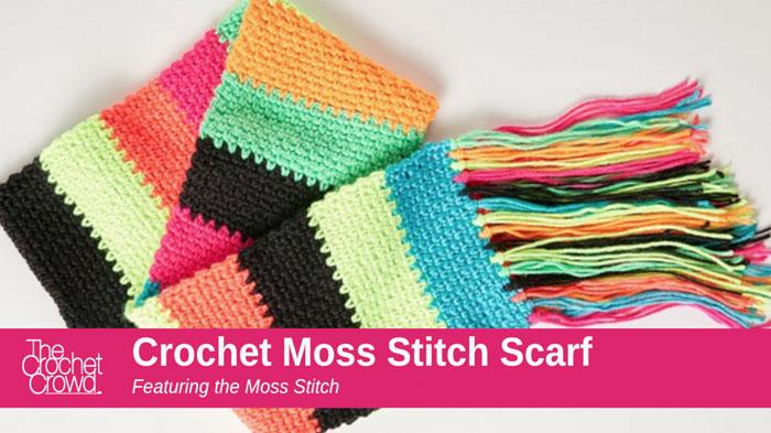 Crochet Moss Stitch Scarf Pattern