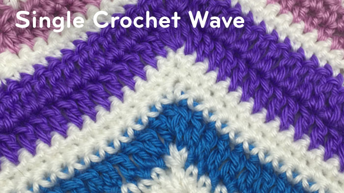 Single Crochet Wave Pattern - The Crochet Crowd