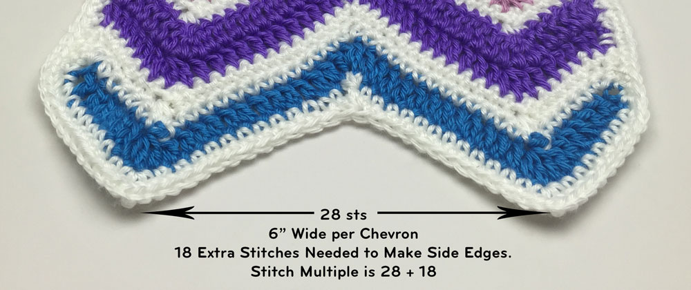 Stitch Multiples for This Crochet Wave Design