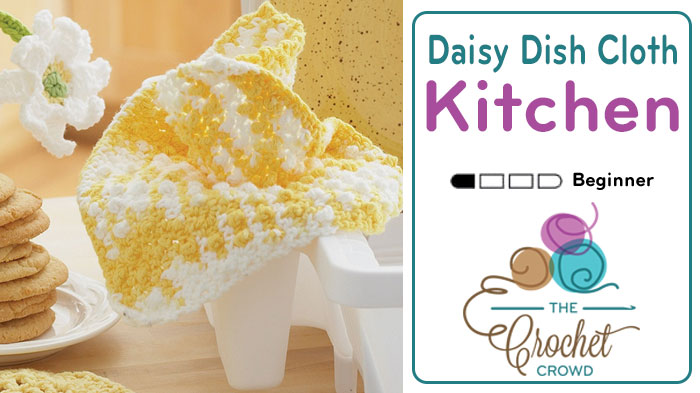 Crochet Daisy Dishcloth + Tutorial