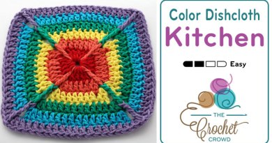 Crochet Over the Rainbow Dishcloth