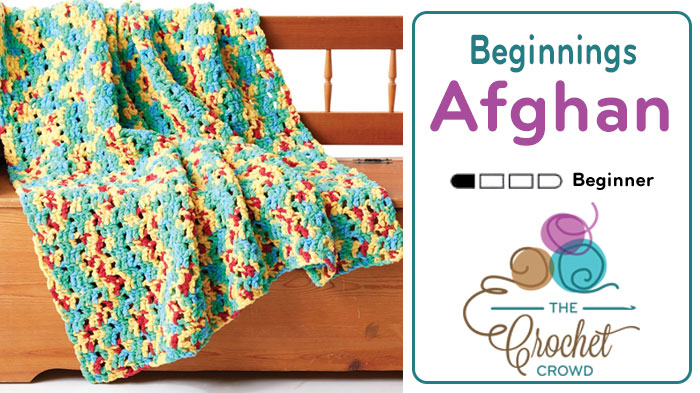 Crochet Bright Beginnings Blanket Pattern