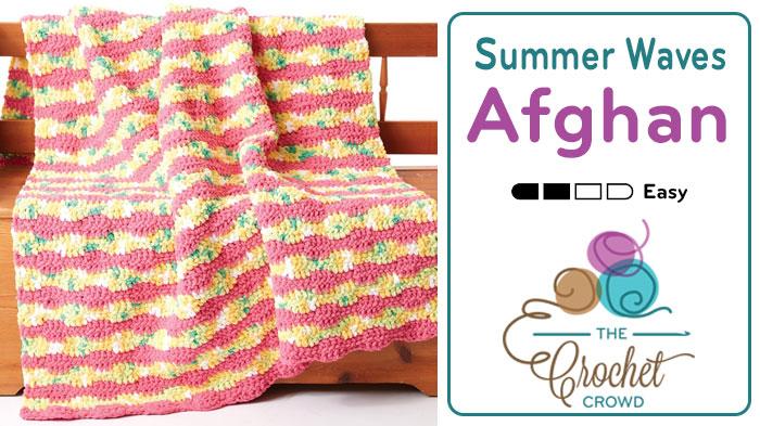 Crochet Summer Waves Afghan