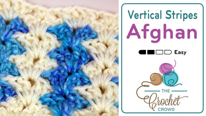 Crochet Vertical Stripes Blanket