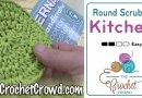 Crochet Double Layered Round Scrubby + Tutorial