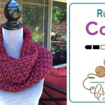 Crochet Ruby Infinity Cowl + Tutorial