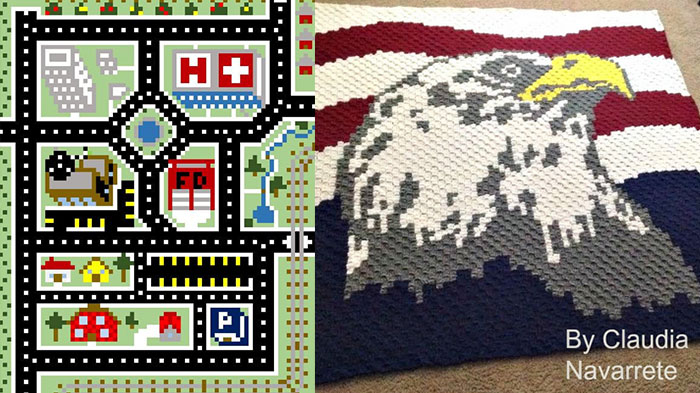 Corner to Corner (C2C) Designs Graphghans