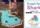 Crochet Mini Toddler Shark Snuggle Sack + Tutorial