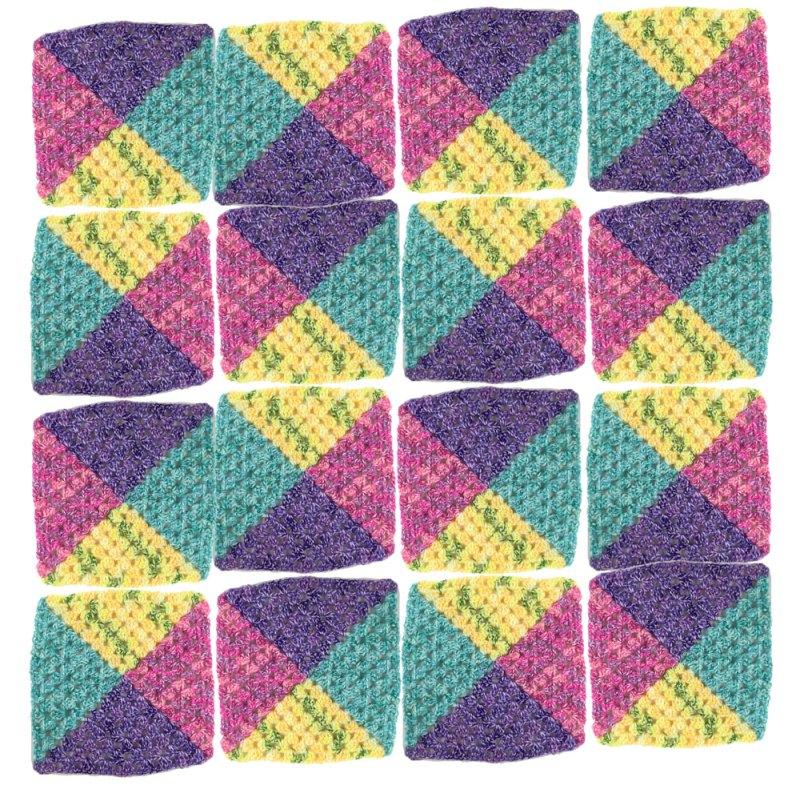 Crochet 4 Colour Granny Square Afghans + Tutorial - The ...