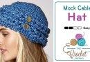 Crochet Mock Cable Hat + Tutorial