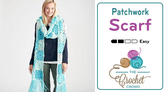 Crochet Patchwork Super Scarf