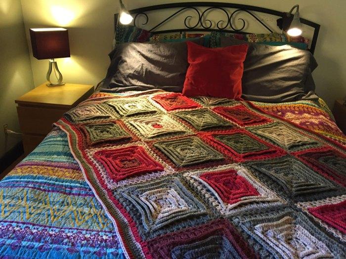 Crochet Hypnotic Tiles Afghan