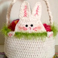 Peek A Boo Rabbit Crochet Easter Basket