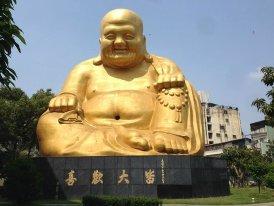 Estatua de Hotei,Templo Paochueh. Taiwán