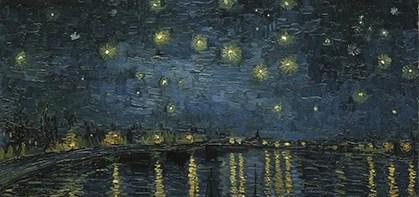 Noche estrellada sobre el Ródano. Van Gogh. Pinturas al aceite