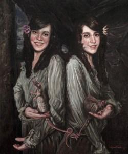 Serie Freak, oleo sobre lienzo, the Hilton sister 2015
