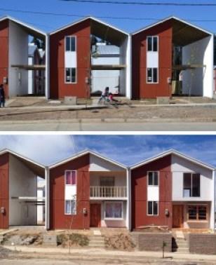 Villa Verde (casas incrementales), Chile.