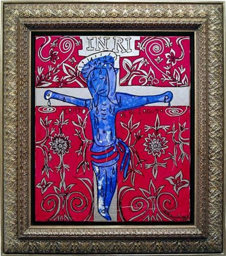 jiri-georg-dokoupil-cristo-de-la-laguna-1996-acrilico-sobre-lienzo-58-x-49-cm-galeria-artizar-fuente-www-artizar-es
