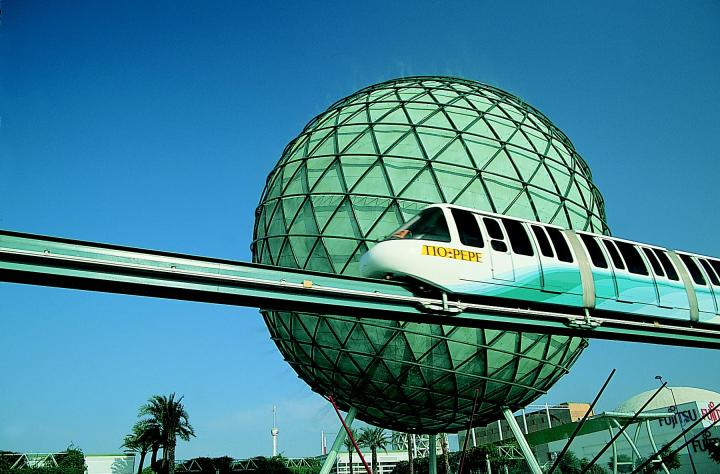 Esfera y monorraíl. Expo 92