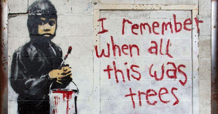 Banksy I remember when all was trees, 2010. Detroit. Estados Unidos