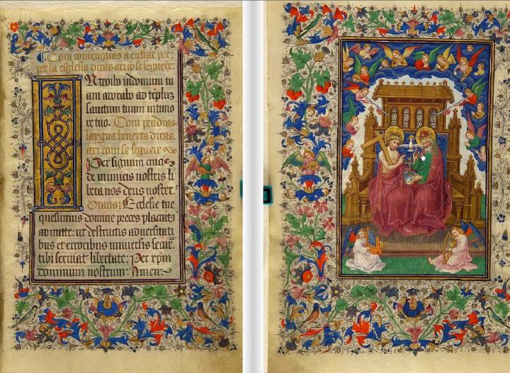 Ilustración 1. Fragmento del libro de horas de Isabel la Católica (1450-1499) Imagen extraída de la web andadas.com