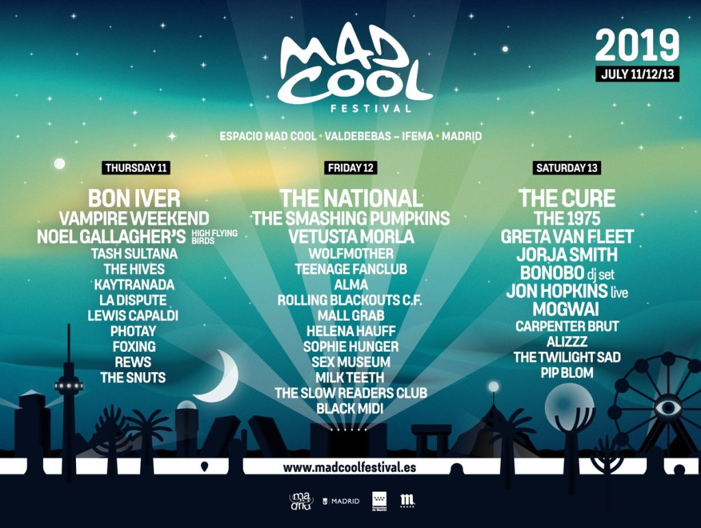Cartel provisional Mad Cool