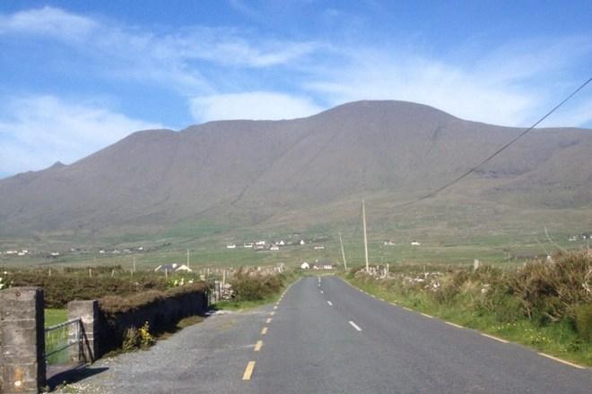 Mount Brandon rising up ahead