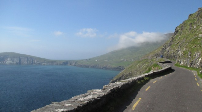 The views are breathtaking as you pedal along Slea head