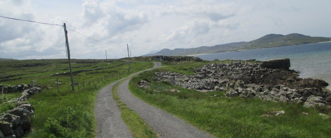 The narrow winding coast roads