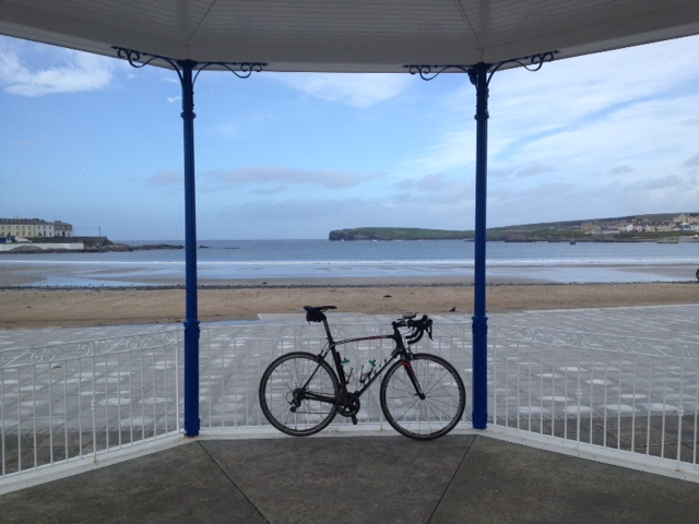 The bandstand in Kilkee was a handy place to stop for lunch