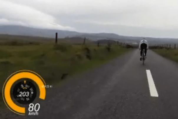 Following Kelly's wheel at 80 kmph in a crosswind