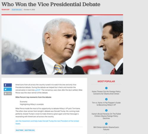 Medium Of Who Won The Debate Tonight