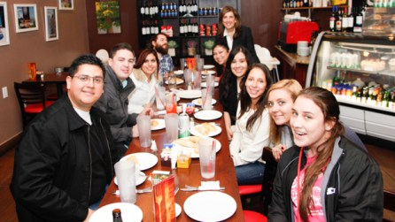 Post tour, the class enjoyed empanadas at Argentina Cafe. | Fernando Castaldi/The Daily Cougar