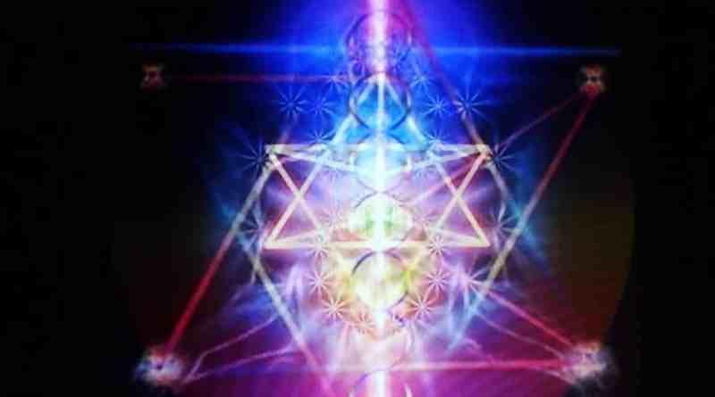 Beautiful spiritual artwork of Merkaba meditation technique.
