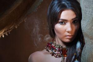 A beautiful Indian woman with beautiful skin