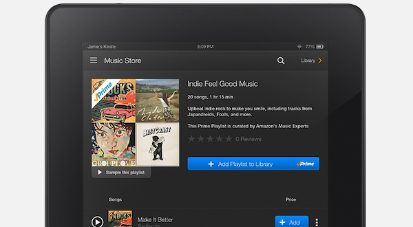 Amazon launches music streaming for Prime members