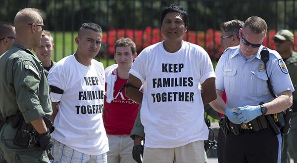 145 arrested at protest against U.S. deportations