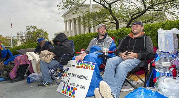 Sharp questions from justices on same-sex marriage