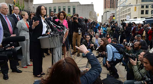 From the steps of the War Memorial: Mosby speaks of Gray 'homicide'