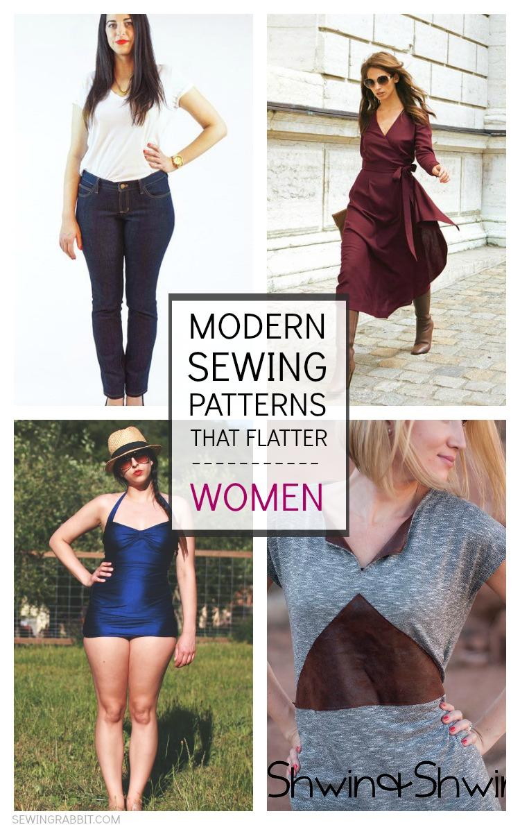 modern sewing patterns that flatter women