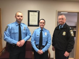 Newly sworn police officer Ashley Guindon, center, was killed responding to a 911 call on her first day working for the Prince William County (Va.) Police Department. She was 28. Image via Twitter.