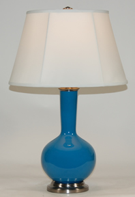 Marine Blue Lamp Peacock Blue