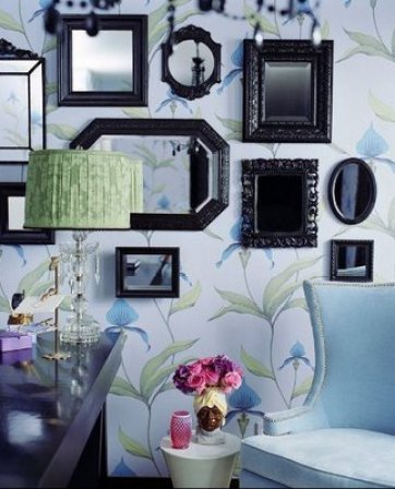 Molly Sims glam office Feminine and Fun Office Spaces