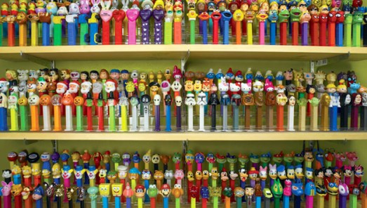 Pez collection displayed Express Yourself