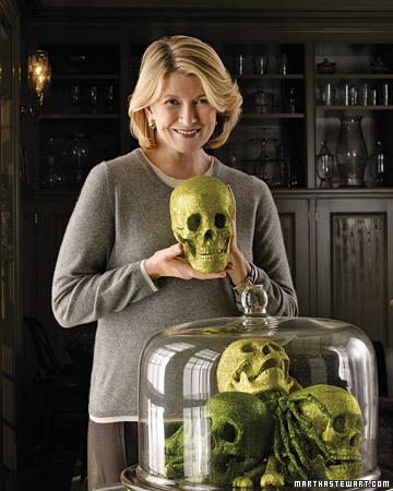 halloween skulls under glass Halloween, Martha Style