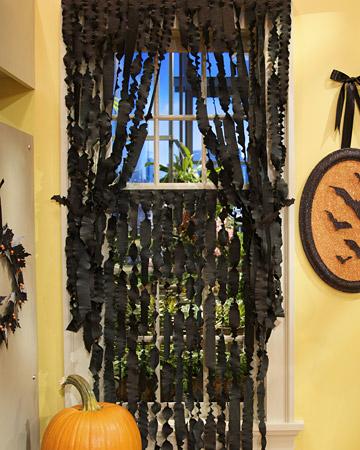 paper mache halloween curtains Halloween, Martha Style