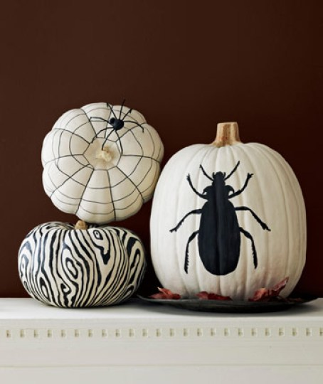 Black and White Pumpkins by Liz Demos Easy Peasy Ways to Decorate a Pumpkin