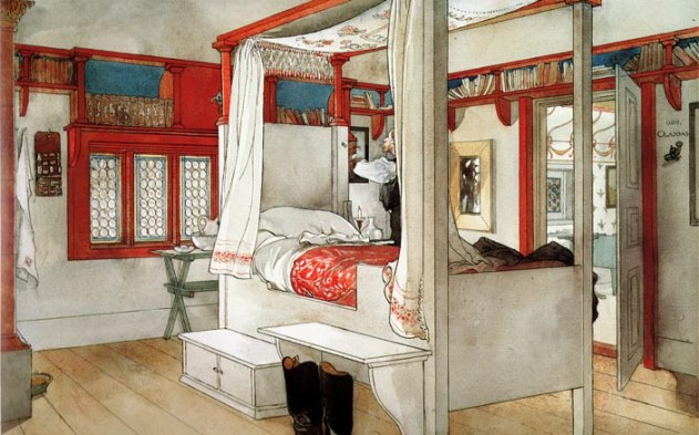 larrsons papas bedroom Carl Larsson's Inspirational Interiors