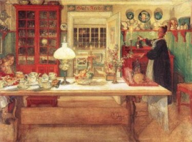 larssons for a little card game Carl Larsson's Inspirational Interiors
